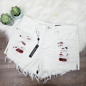 Blank nyc pin-up high rise shorts